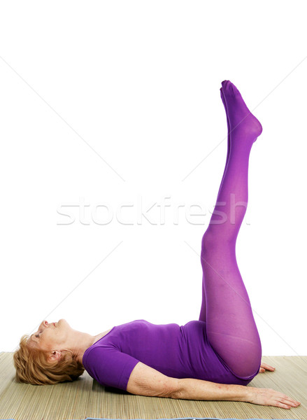 Senior Yoga - Double Leg Raise Stock photo © lisafx