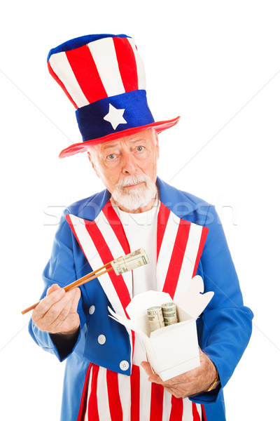 Uncle Sam Eats Dim Sum Stock photo © lisafx