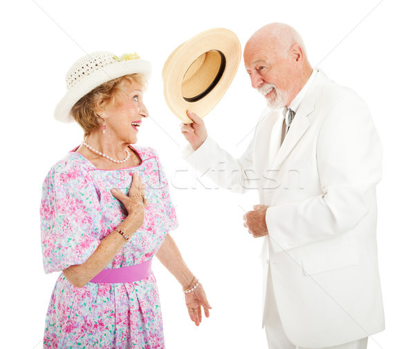 Stock photo: Southern Chivalry - Senior Couple