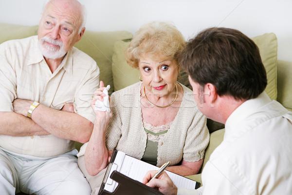 Couples Counseling - Seniors Stock photo © lisafx