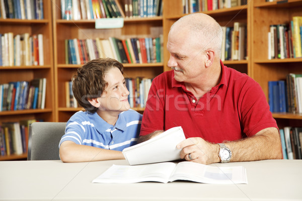 Tutoring in the Library Stock photo © lisafx