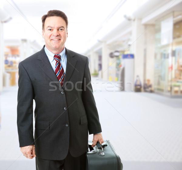 Stock fotó: üzlet · utazó · repülőtér · stock · fotó · üzletember