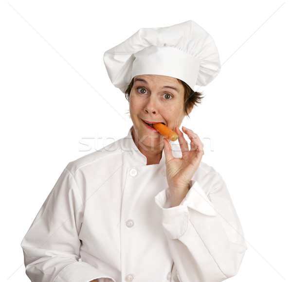 Chef up doc cute Homme manger Photo stock © lisafx