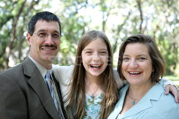 Famiglia risate famiglia felice ridere insieme focus Foto d'archivio © lisafx