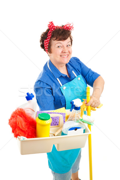 Happy Housekeeper Stock photo © lisafx