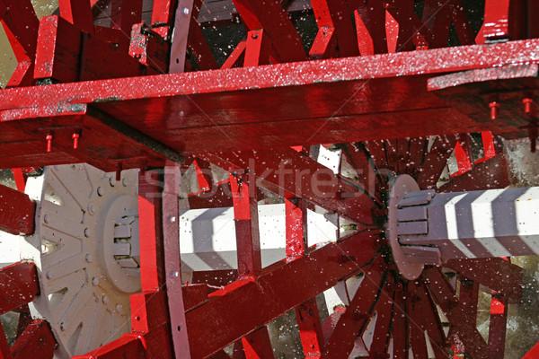 çalışma tekerlek görmek eski vapur Stok fotoğraf © lisafx