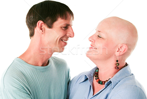 Stock photo: Cancer Patient and Husband In Love