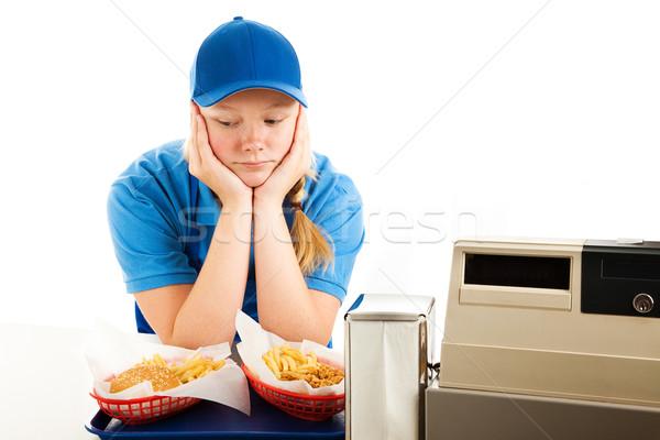 Сток-фото: депрессия · подростков · быстрого · питания · сервер · несчастный