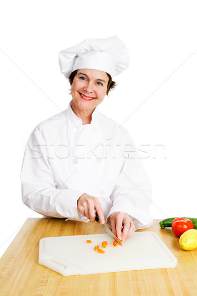 Chef Chops Vegetables Stock photo © lisafx