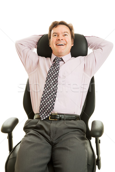 Businessman Enjoys Ergonomic Chair Stock photo © lisafx
