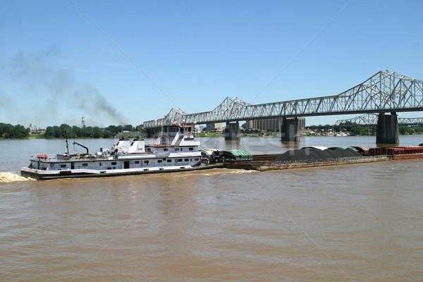 Kömür renk itme yukarı Ohio nehir Stok fotoğraf © lisafx