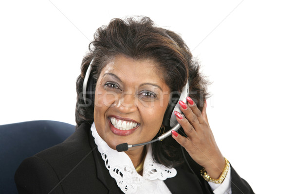 Indian Woman - Friendly Service Stock photo © lisafx