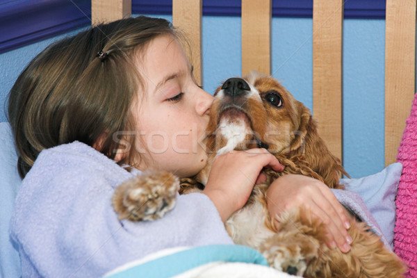 Puppy Kisses Stock photo © lisafx