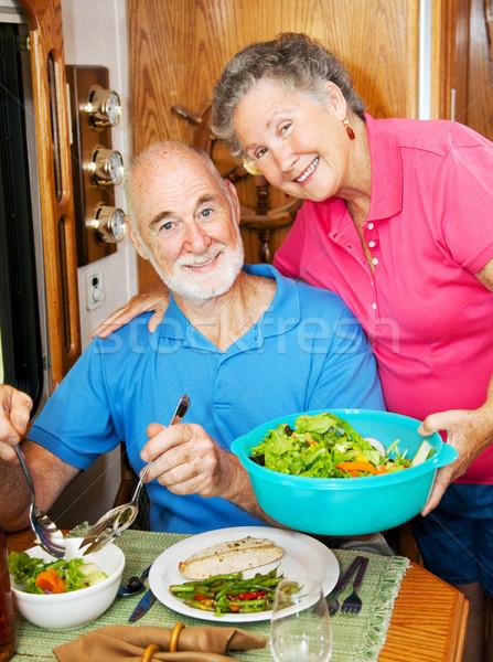 RV Seniors - Serving Dinner Stock photo © lisafx