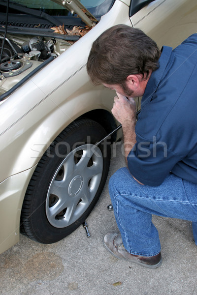 Removing Hubcap Stock photo © lisafx
