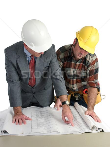 Reviewing Blueprints Stock photo © lisafx
