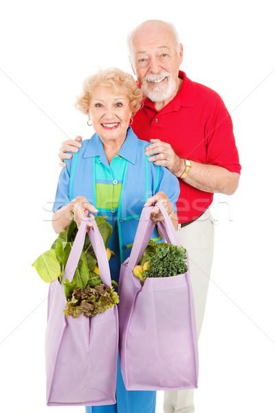 Seniors and Reusable Shopping Bags Stock photo © lisafx
