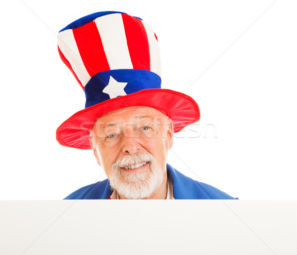 Uncle Sam Head - Happy Stock photo © lisafx