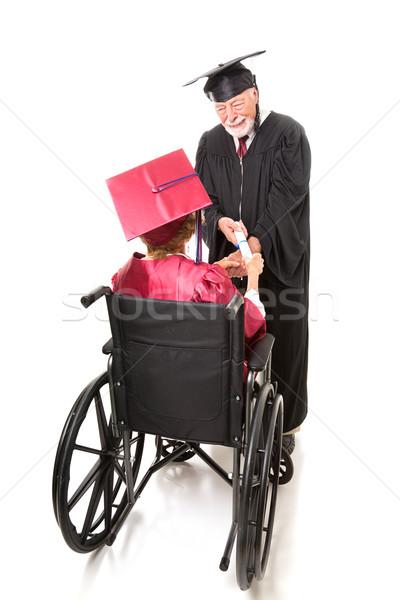 Disabled Graduate Receives Diploma Stock photo © lisafx