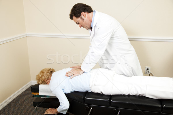 Chiropractor with Copyspace Stock photo © lisafx