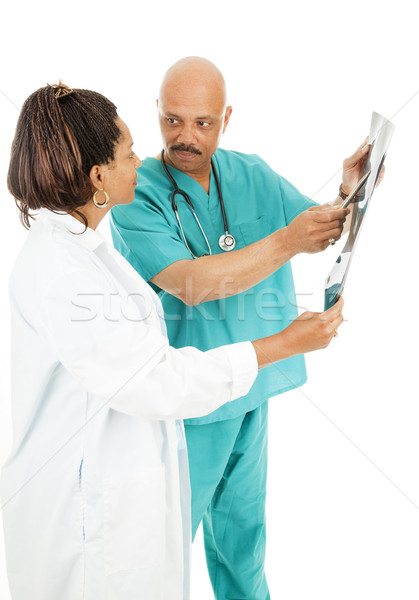 Doctors Discuss X-Ray Results Stock photo © lisafx