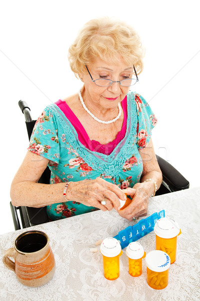 Disabled Woman Takes Medicine Stock photo © lisafx