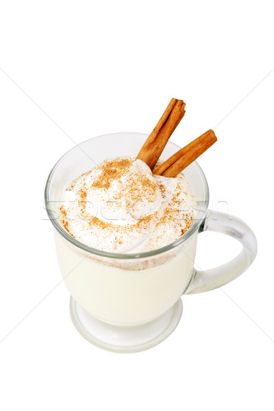 Holiday Eggnog with Path Stock photo © lisafx
