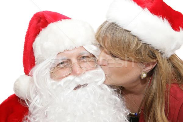 Kiss For Santa Stock photo © lisafx