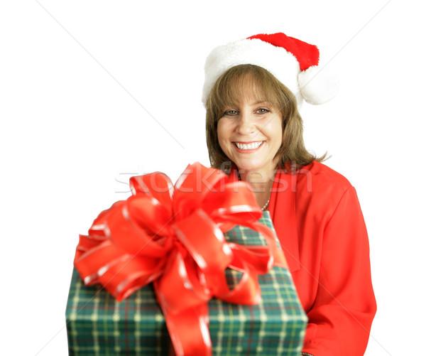 Santa's Helper With Gift Stock photo © lisafx