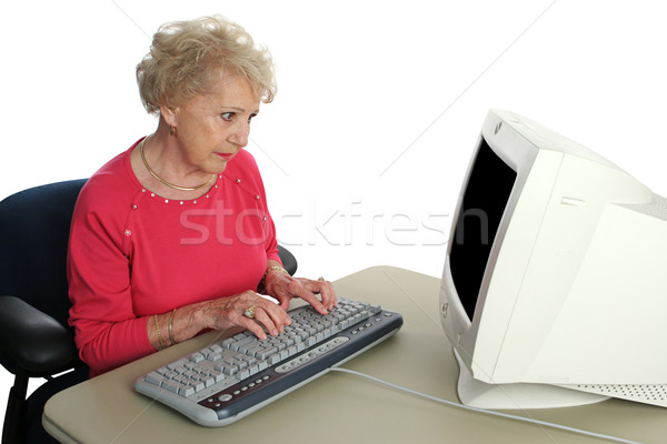 Senior Confused by Technology Stock photo © lisafx