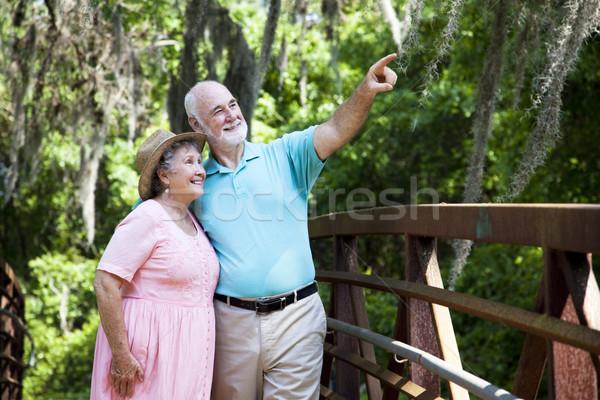 Starszy para zwiedzanie wraz Florida wakacje rodziny Zdjęcia stock © lisafx