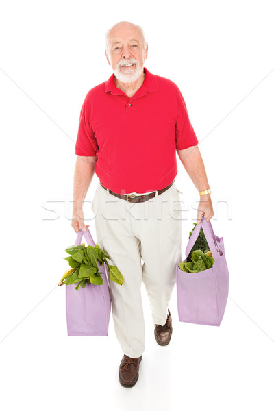 Senior with Reusable Grocery Bags Stock photo © lisafx