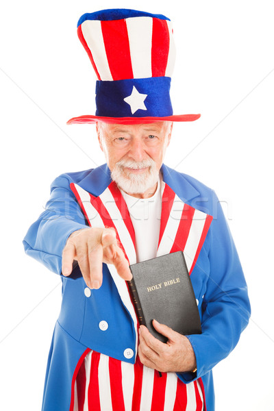 Amca kilise amerikan ikon İncil Stok fotoğraf © lisafx