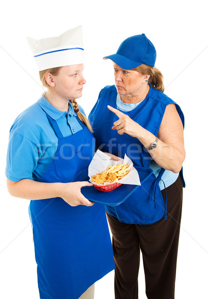Boss Yells at Fast Food Worker Stock photo © lisafx