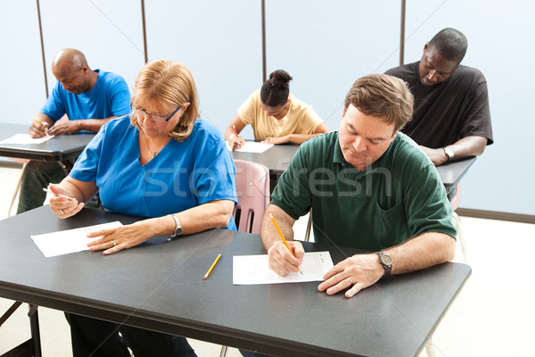 Adult Education - Taking Test Stock photo © lisafx
