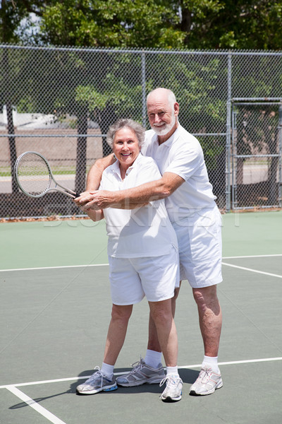Romantic Tennis Lessons Stock photo © lisafx