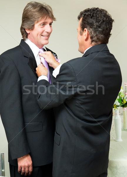 Homo bruiloft stropdas een bruidegom ander Stockfoto © lisafx