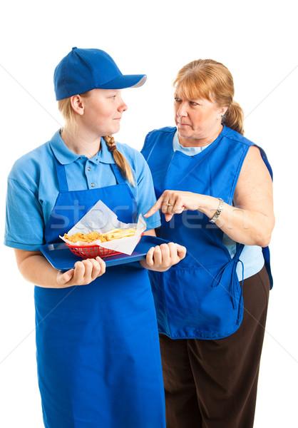 Teen Worker with Boss Stock photo © lisafx