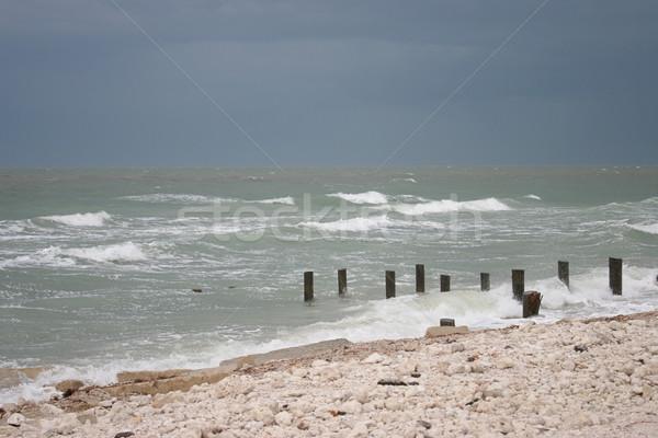 Beach Before Hurricane Stock photo © lisafx