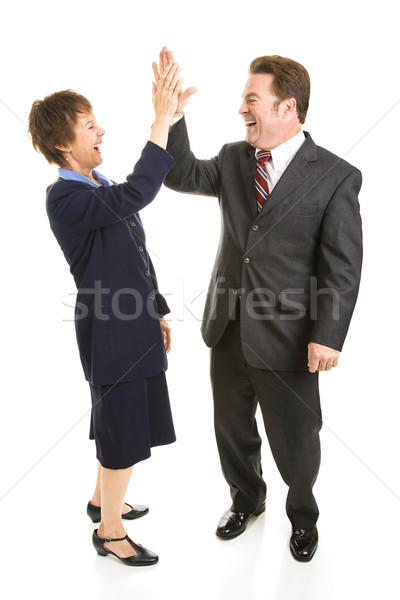 Business Partners High Five Stock photo © lisafx