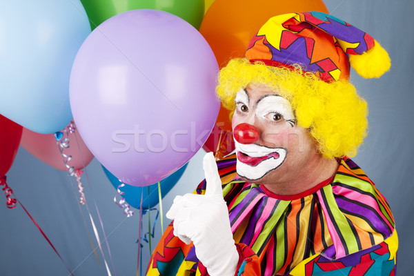 Clown - Quiet Please Stock photo © lisafx