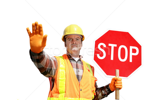 Construction Stop Isolated Stock photo © lisafx