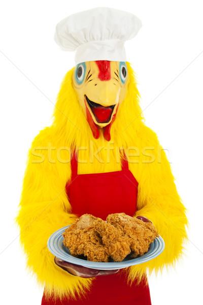 Frango assado jantar chef frango terno Foto stock © lisafx