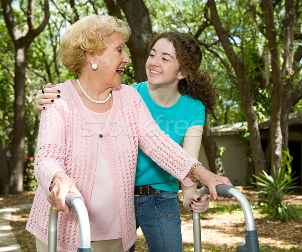 Grandmother & Teen Laughing Stock photo © lisafx