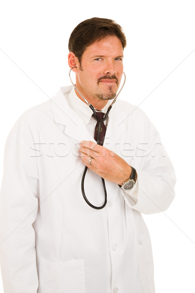 Handsome Doctor with Stethoscope Stock photo © lisafx