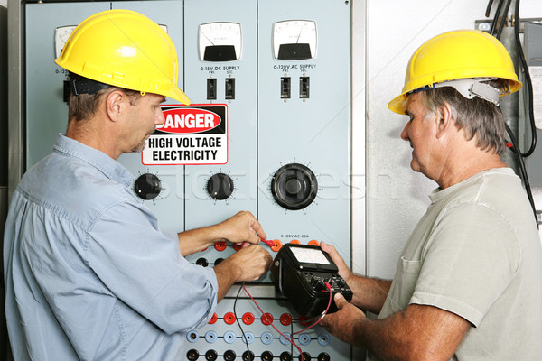 Stock photo: Industrial Electricians