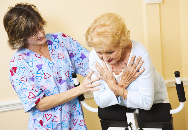 Stock photo: Physical Therapy - Help From Nurse