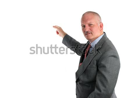 Meteorologist or Businessman Pointing Stock photo © lisafx