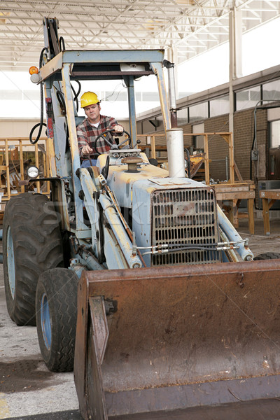 Worker Driving Backhoe Stock photo © lisafx
