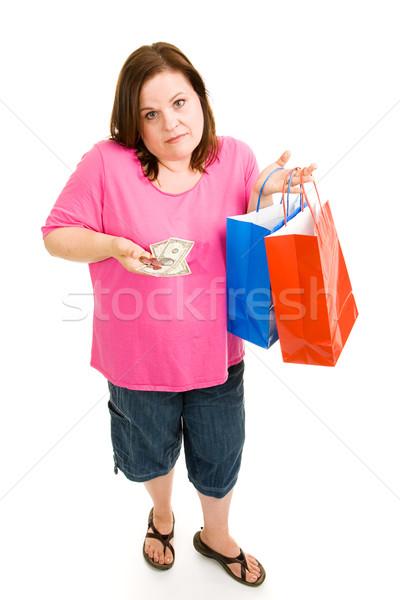 Ekonomiczny kobieta patrząc rozczarowany Zdjęcia stock © lisafx